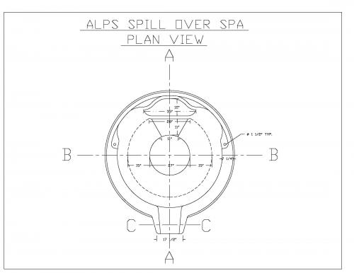 SPILL OVER SPA - PLAN VIEW